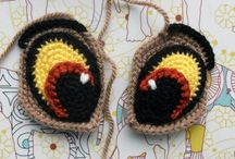 Глазки амигуруми