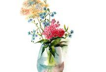 Акварель - цветы.