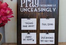 prayer boards