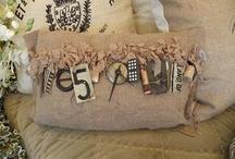 Burlap crafts / by Lyn Dee Rhodes