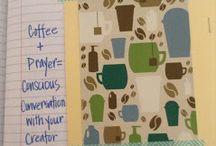 Prayer journal and notebook stuff