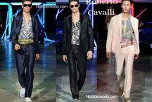 Roberto Cavalli uomo / Roberto Cavalli collezione e catalogo primavera estate e autunno inverno abiti abbigliamento accessori scarpe borse sfilata uomo.
