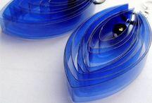 Boucle d'oreille plastique
