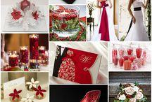 BODAS NAVIDAD / Detalles, decoración, colores para las bodas navideñas