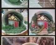 домики в чашках и другое