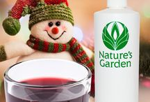 Christmas Scents - Fragrances / Celebrate the holidays with these fabulous Christmas Fragrance Oils from the famous Natures Garden Fragrances. These fragrances are typically used to make candles, soap, cosmetics, room scent, and bath and body products.