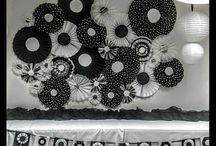 fiesta en blanco y negro