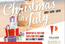 Christmas in July! / It's Christmas in July! Donate a toy for Toys for Tots and receive a free tank top in exchange! Haven't signed with Village Promenade? Sign a lease this week for a chance to win a gift!   Merry Christmas in July!! :)