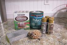 Kitchen upgrades faux granite counter tops