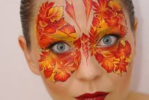 Fall Face Painting Inspiration / Fall inspired face painting great for Thanksgiving, Fall festivals and warm colors. www.sillyfarm.com for everything face and body art.