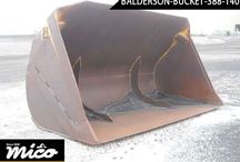 BALDER SON BUCKET 388-140 / The Balder Son Bucket Is A Brand New And A Quick Coupler Setup. Its Bucket Size Is 15 Cubic Yards. It Is Very Good Attachment for Any Wheel Loader.