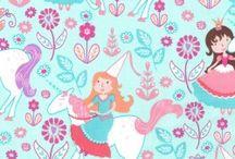 Michael Miller - Unicorn Princess / A toss of unicorns, soft pastel shades, flowers and princesses.