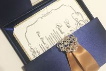 Luxus wedding card