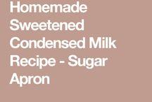 Condensed milk etc
