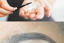 Maquiagem, moda e cabelo.