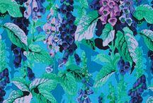 Fabric wishlist- teal and lavender / Bedroom 2 ideas