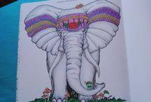 My work on Animorphia by Kerby Rosanes / Coloring book Animorphia - Kerby Rosanes / Proměny zvířat - antistresové omalovánky