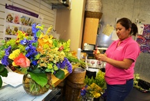 Working in a Flower Shop / hahahaha, we laugh a lot, we love what we do and we love flowers - enough said on that!