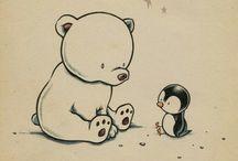 Pingvin, jegesmedve, őzike LEGEK