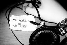 music / music is what makes me strong, music is what keeps me going on.