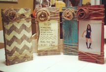 Wood block picture frames