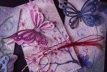 Hobby work / Handmade paper, lasercut, hobby