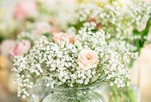 Schleierkraut Dekoration Hochzeit // Baby Breath Wedding decoration / www.weddinghelfer.de