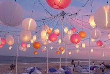 Wedding beach party