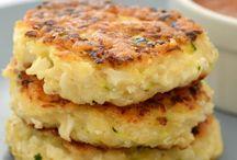Cauliflower cheese fritters