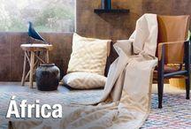 África / Con ánimo aventurero. Esta tendencia pone en valor objetos artesanales de otras culturas y recuerdos de safaris o viajes lejanos.