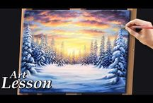 Winterlandscape painting