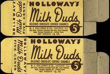 Boxes / carte di caramelle, scatole, bustine, carte della cioccolata e packaging degli anni 60/70/80