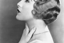 1930's Cruising / fashion, patterns, dresses, headgear, tiaras, feathers, beads, hairstyles, lace, chokers, jewellery, feminine, women