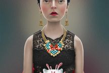 Frida, the Muse / Works by and inspired by Frida Kahlo / by Heidi Andrade
