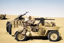 Special operation Jeep, fast attack vehicle and gun truck
