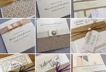 Gold wedding invitations and stationery