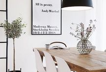 Scandinavian Inspired Spaces / Light woods, lots of white, black and white, minimal