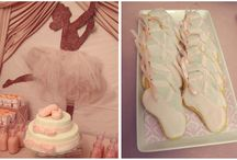 Ballet inspiration / Ballerinas big or small will all love the details of this board.  Twirly, soft and full of fun.  A ballet inspired party.