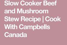 Beef/Mushroom Stew