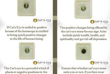 Gemstone Infographic / Cat's Eye or Lehsunia is a brilliant stone which resembles the eyes of a cat.