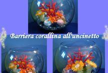Barriera corallina ... all'uncinetto www.nonsolofiori.com /  Il mio acquario di barriera corallina .... all'uncinetto. (diametro 25 x 20 cm di altezza) www.nonsolofiori.com