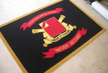 Military Logo Rugs and Carpet / Custom Logo rugs and Logo Mats for United States Military & Armed Forces including Army, Navy, Air Force, Marines & Coast Guard.