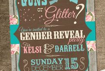 Gender reveal party <3 :D / by Whitney Goforth