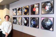 Vinyl Art on the Wall