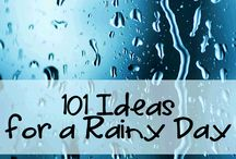 Indoor kid activities for rainy or sick days  / by Christina 'Lee' Gasich