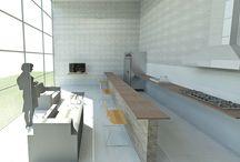 """LOFT  - CASAL / Trabalho desenvolvido na matéria de """"Projeto de Arquitetura - Habitação"""" ,onde tinha como demanda projetar um Loft voltado para um casal de aposentados e seu filho adulto.  (Projeto e Imagens elaboradas por Felipe Ribeiro)"""