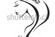 silueta de mujer
