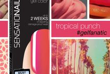 Tropical Punch / Gel color that packs a punch! Pretend it's summertime all year round with this hot pink SensatioNail shade.