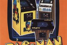 1980s Pac-Man arcade game  / Who can forget Pac-Man? Get nostalgic with this original Bally/Midway Pac-Man cabinet circa 1980! This refurbished package offers authentic cabinet graphics, upgraded coin-op electronics, and a Midway joystick to provide you with the same game play as you remember from the arcade! This is our #1 seller! Set to Free-Play or Coin-op. This unit is compatible with our Multi-Game Package 1 upgrade. Shipping available nation-wide!