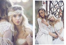 Bohemian brides / Bohemian weddings, beach weddings, Boho bridal fashion and style
